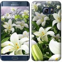 Чехол для Samsung Galaxy S6 Edge Plus G928 Белые лилии 2686u-189