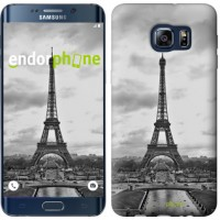 Чехол для Samsung Galaxy S6 Edge Plus G928 Чёрно-белая Эйфелева башня 842u-189