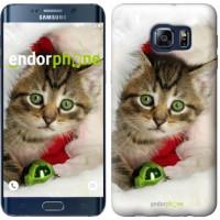 Чехол для Samsung Galaxy S6 Edge Plus G928 Новогодний котёнок в шапке 494u-189