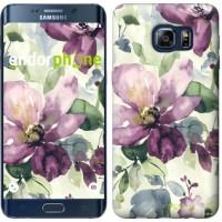 Чехол для Samsung Galaxy S6 Edge Plus G928 Цветы акварелью 2237u-189