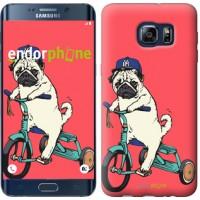 Чехол для Samsung Galaxy S6 Edge Plus G928 Мопс на велосипеде 3072u-189