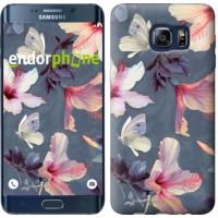 Чехол для Samsung Galaxy S6 Edge Plus G928 Нарисованные цветы 2714u-189