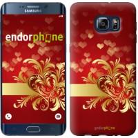Чехол для Samsung Galaxy S6 Edge Plus G928 Ажурные сердца 734u-189