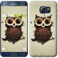 Чехол для Samsung Galaxy S6 Edge Plus G928 Сова из кофе 777u-189