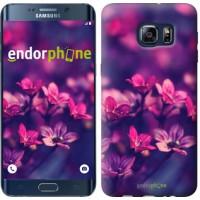 Чехол для Samsung Galaxy S6 Edge Plus G928 Пурпурные цветы 2719u-189