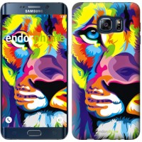 Чехол для Samsung Galaxy S6 Edge Plus G928 Разноцветный лев 2713u-189