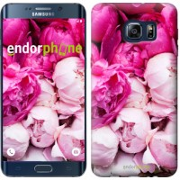 Чехол для Samsung Galaxy S6 Edge Plus G928 Розовые пионы 2747u-189