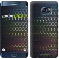 Чехол для Samsung Galaxy S6 Edge Plus G928 Переливающиеся соты 498u-189