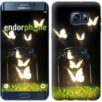 Чехол для Samsung Galaxy S6 Edge Plus G928 Светящиеся бабочки 2983u-189