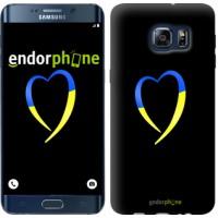 Чехол для Samsung Galaxy S6 Edge Plus G928 Жёлто-голубое сердце 885u-189