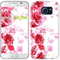 Чехол для Samsung Galaxy S6 G920 Нарисованные розы 724c-80