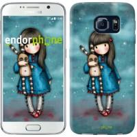 Чехол для Samsung Galaxy S6 G920 Девочка с зайчиком 915c-80