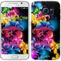Чехол для Samsung Galaxy S6 G920 Абстрактные цветы 511c-80