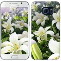 Чехол для Samsung Galaxy S6 G920 Белые лилии 2686c-80