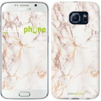 Чехол для Samsung Galaxy S6 G920 Белый мрамор 3847c-80