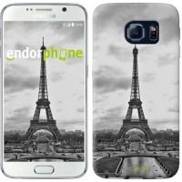 Чехол для Samsung Galaxy S6 G920 Чёрно-белая Эйфелева башня 842c-80