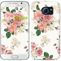 Чехол для Samsung Galaxy S6 G920 цветочные обои v1 2293c-80