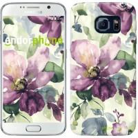 Чехол для Samsung Galaxy S6 G920 Цветы акварелью 2237c-80