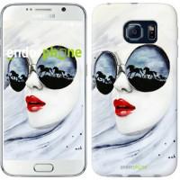 Чехол для Samsung Galaxy S6 G920 Девушка акварелью 2829c-80