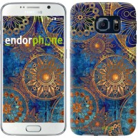 Чехол для Samsung Galaxy S6 G920 Золотой узор 678c-80