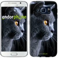Чехол для Samsung Galaxy S6 G920 Красивый кот 3038c-80