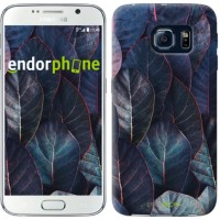 Чехол для Samsung Galaxy S6 G920 Листья v3 3328c-80