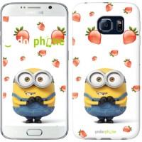 Чехол для Samsung Galaxy S6 G920 Миньон с клубникой 3369c-80