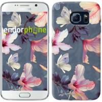 Чехол для Samsung Galaxy S6 G920 Нарисованные цветы 2714c-80