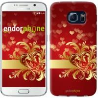 Чехол для Samsung Galaxy S6 G920 Ажурные сердца 734c-80