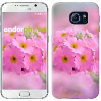 Чехол для Samsung Galaxy S6 G920 Розовая примула 508c-80
