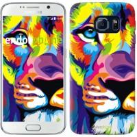 Чехол для Samsung Galaxy S6 G920 Разноцветный лев 2713c-80