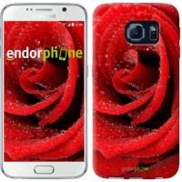 Чехол для Samsung Galaxy S6 G920 Красная роза 529c-80