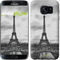 Чехол для Samsung Galaxy S7 Edge G935F Чёрно-белая Эйфелева башня 842c-257