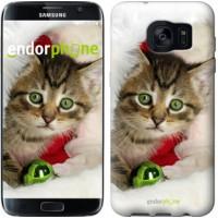 Чехол для Samsung Galaxy S7 Edge G935F Новогодний котёнок в шапке 494c-257
