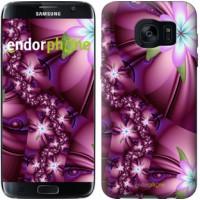 Чехол для Samsung Galaxy S7 Edge G935F Цветочная мозаика 1961c-257