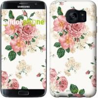 Чехол для Samsung Galaxy S7 Edge G935F цветочные обои v1 2293c-257