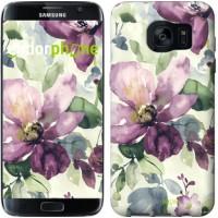 Чехол для Samsung Galaxy S7 Edge G935F Цветы акварелью 2237c-257