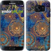 Чехол для Samsung Galaxy S7 Edge G935F Золотой узор 678c-257