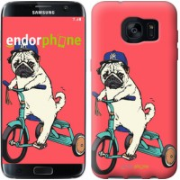 Чехол для Samsung Galaxy S7 Edge G935F Мопс на велосипеде 3072c-257
