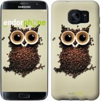 Чехол для Samsung Galaxy S7 Edge G935F Сова из кофе 777c-257