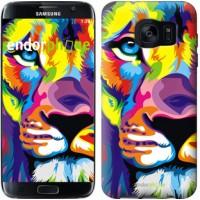 Чехол для Samsung Galaxy S7 Edge G935F Разноцветный лев 2713c-257