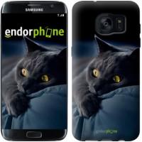 Чехол для Samsung Galaxy S7 Edge G935F Дымчатый кот 825c-257