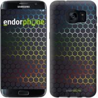 Чехол для Samsung Galaxy S7 Edge G935F Переливающиеся соты 498c-257