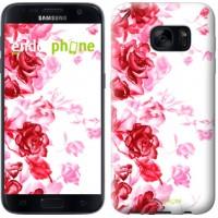 Чехол для Samsung Galaxy S7 G930F Нарисованные розы 724m-106