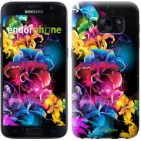 Чехол для Samsung Galaxy S7 G930F Абстрактные цветы 511m-106