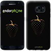 Чехол для Samsung Galaxy S7 G930F Черная клубника 3585m-106