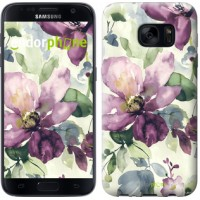 Чехол для Samsung Galaxy S7 G930F Цветы акварелью 2237m-106