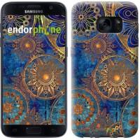 Чехол для Samsung Galaxy S7 G930F Золотой узор 678m-106