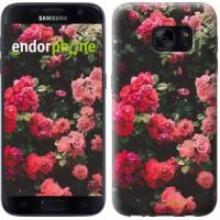 Чехол для Samsung Galaxy S7 G930F Куст с розами 2729m-106