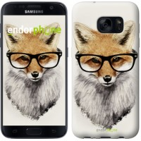 Чехол для Samsung Galaxy S7 G930F Лис в очках 2707m-106